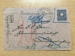 K6 Deutsches Reich Ganzsache Stationery Entier Postal RU 1 Mit Nachporto Wg. Ungültigkeit Des Wertstempels - Ganzsachen