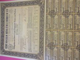 Obligation De 350 Frcs Au Porteur à Intérêt Variable/Crédit Foncier Du Brésil Et De L'Amérique Du Sud/ 1940     ACT219 - Banque & Assurance
