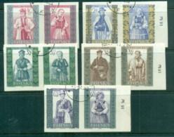 Poland 1959-60 Costumes 5x Prs IMPERF CTO - 1944-.... Republic