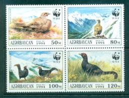 Azerbaijan 1994 WWF Black Grouse Blk 4 MUH Lot64007 - Azerbaïjan