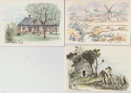 19 / 2 / 173  -  LOT  DE  5  C. P. M.  -  PAYSAGES. SIGNÉS  ROBERT  LEPINE - 5 - 99 Postcards