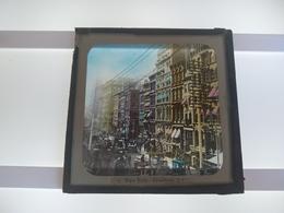 USA NEW YORK BROADWAY AMERICA  Plaque De Verre GLASS SLIDE CIRCA EARLY 1900 - Diapositivas De Vidrio