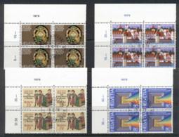 Switzerland 1978 Anniversaries Blk4 CTO - Switzerland