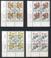 Switzerland 1977 Welfare Flowers Blk4 CTO - Switzerland