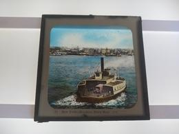 USA NEW YORK BROOKLYN FERRY BOAT  AMERICA  Plaque De Verre GLASS SLIDE CIRCA EARLY 1900 - Diapositivas De Vidrio
