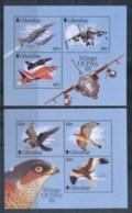 Gibraltar 2000 Wings Of Prey III, Birds, Airplanes MS MUH - Gibraltar