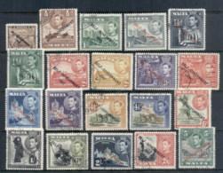 Malta 1948 KGVI Pictorials, Opt Self Government To 5/- FU - Malta