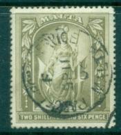 Malta 1899 Allegory, Malta 2/6d FU - Malta