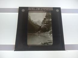 IN THE ROCKIES CANADA   Plaque De Verre GLASS SLIDE CIRCA EARLY 1900 - Diapositivas De Vidrio