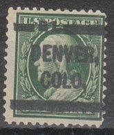 USA Precancel Vorausentwertung Preo, Locals Colorado, Denver L-1 HS, Perf. 12x12 - Vereinigte Staaten