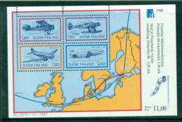 Finland 1988 FINLANDIA '88 Planes MS MUH Lot57315 - Finland