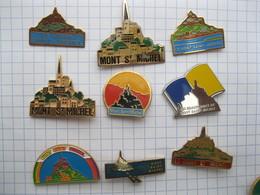MONT SAINT MICHEL  Lot De 9 Pin's - Pin's
