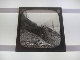 RAILWAY BRIDGE CANADA   Plaque De Verre GLASS SLIDE CIRCA EARLY 1900 - Diapositivas De Vidrio