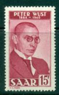 Saar 1950 Peter Wust MLH Lot38479 - 1947-56 Protectorate