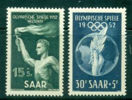 Saar 1952 Helsinki OlympicsH Lot38510 - 1947-56 Protectorate