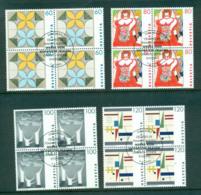 Switzerland 1993 Swiss Women's Art Blk 4 CTO Lot59025 - Switzerland
