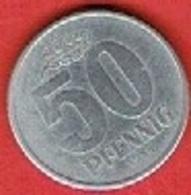 DDR  #   50 Pfennig FROM 1958 - [ 6] 1949-1990 : GDR - German Dem. Rep.