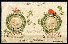 CARTOLINA CV2403 COMMEMORATIVA Ricordo Incontro Vittorio Emanuele III Ed Emile Loubet, Presidente Della Francia, Feste F - Eventi
