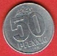 DDR  #   50 Pfennig FROM 1968 - [ 6] 1949-1990 : GDR - German Dem. Rep.