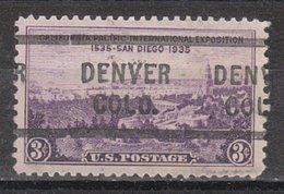 USA Precancel Vorausentwertung Preo, Locals Colorado, Denver L-8 HS - Vereinigte Staaten
