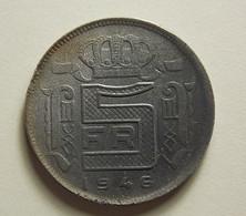 Belgium 5 Francs 1946 Varnished - 1945-1951: Régence
