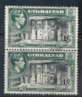 Gibraltar 1938-49 KGVI Pictorials 1/-pr, Perf 13.5x13.5 FU - Gibraltar