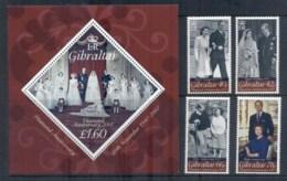Gibraltar 2007 QEII & Prince Phillip 60th Wedding Anniv + MS MUH - Gibraltar
