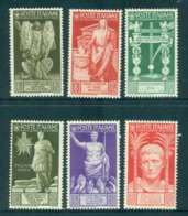 Italy 1937 Bimillenary Of Augustus Asst (6) MLH Lot57150 - Italy