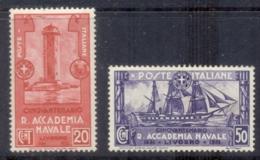 Italy 1931 Royal Naval Academy 20,50c MLH - Italy