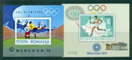 Romania 1972 Munich Olympics 2x MS MUH Lot57417 - 1948-.... Republics