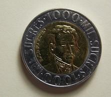 Ecuador 1000 Sucres 1996 Varnished - Ecuador
