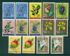 Yugoslavia 1959 Flowers Asst MLH/FU Lot40481 - Yugoslavia