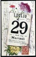 CARTOLINA CV2405 DIPINTA A MANO Anniversario Assassinio Umberto I, Viaggiata Da Roma A Pisa Il 29 Luglio 1902, Due Anni - Eventi