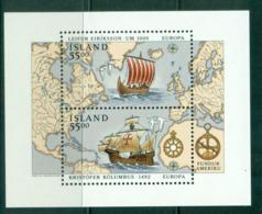 Iceland 1992 Leif Erickson & Christopher Columbus, Europa MS MUH Lot57402 - 1944-... Republic