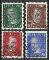 Estland Estonia Estonie 1938 Michel 138 - 141 O - Estonie
