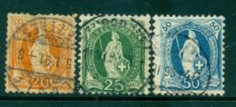 Switzerland 1882 Helvetia Asst FU Lot59062 - Switzerland