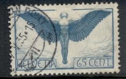 Switzerland 1923-25 Figure Of Flight 65c FU - Switzerland