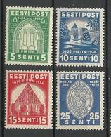 Estland Estonia 1936 Pirita Nonnery Michel 120 - 123 MNH - Estonie