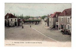 CPA 36 - Martizay ( Indre ) - Le Mail Et Route De Preuilly - Autres Communes