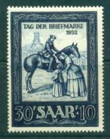 Saar 1952 Stamp Day MUH Lot38512 - 1947-56 Protectorate
