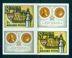 Hungary 1977 700th Anniv. Os Sopron IMPERF Blk MUH Lot58805 - Hungary