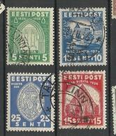 Estonia Estonie 1936 Brigitta Nonnery Pirita Michel 120 - 123 O - Estonia