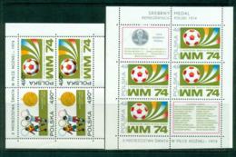 Poland 1974 World Cup Soccer 2xMS MUH Lot57468 - 1944-.... Republic