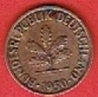 GERMANY  #   2 PFENNIG FROM 1950 - [ 7] 1949-… : FRG - Fed. Rep. Germany
