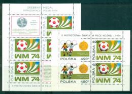Poland 1974 World Cup Soccer 2x MS MUH Lot35641 - 1944-.... Republic