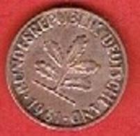 GERMANY  #   2 PFENNIG FROM 1961 - [ 7] 1949-… : FRG - Fed. Rep. Germany