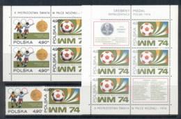 Poland 1974 World Cup Soccer Munich + 2xMS MUH - 1944-.... Republic