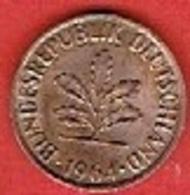 GERMANY  #   2 PFENNIG FROM 1964 - [ 7] 1949-… : FRG - Fed. Rep. Germany