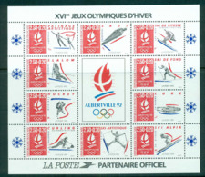 France 1992 Winter Olympics, Albertvlle MS MUH Lot57340 - France