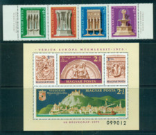 Hungary 1975 Architectural Heritage Year + MS MUH Lot58803 - Hungary